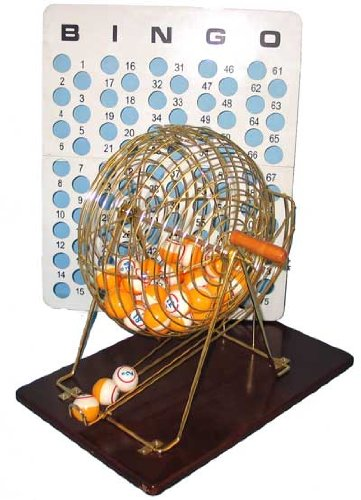 Hayes Specialties Brass Bingo Cage With Table Tennis Ball #15052 by HAYES SPECIALTIES