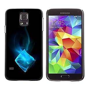PC/Aluminum Funda Carcasa protectora para Samsung Galaxy S5 SM-G900 Blue Ice Cube / JUSTGO PHONE PROTECTOR
