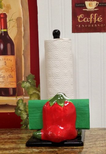 WESTERN RED CHILI, Napkin & Towel Holder, 11 3/4