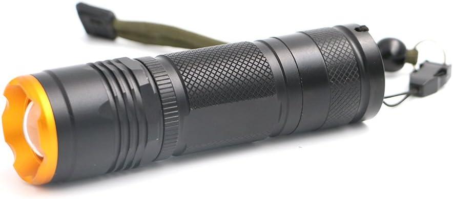 Linterna LED T6, 1 x 18650/1 x 26650 batería (no incluida ...