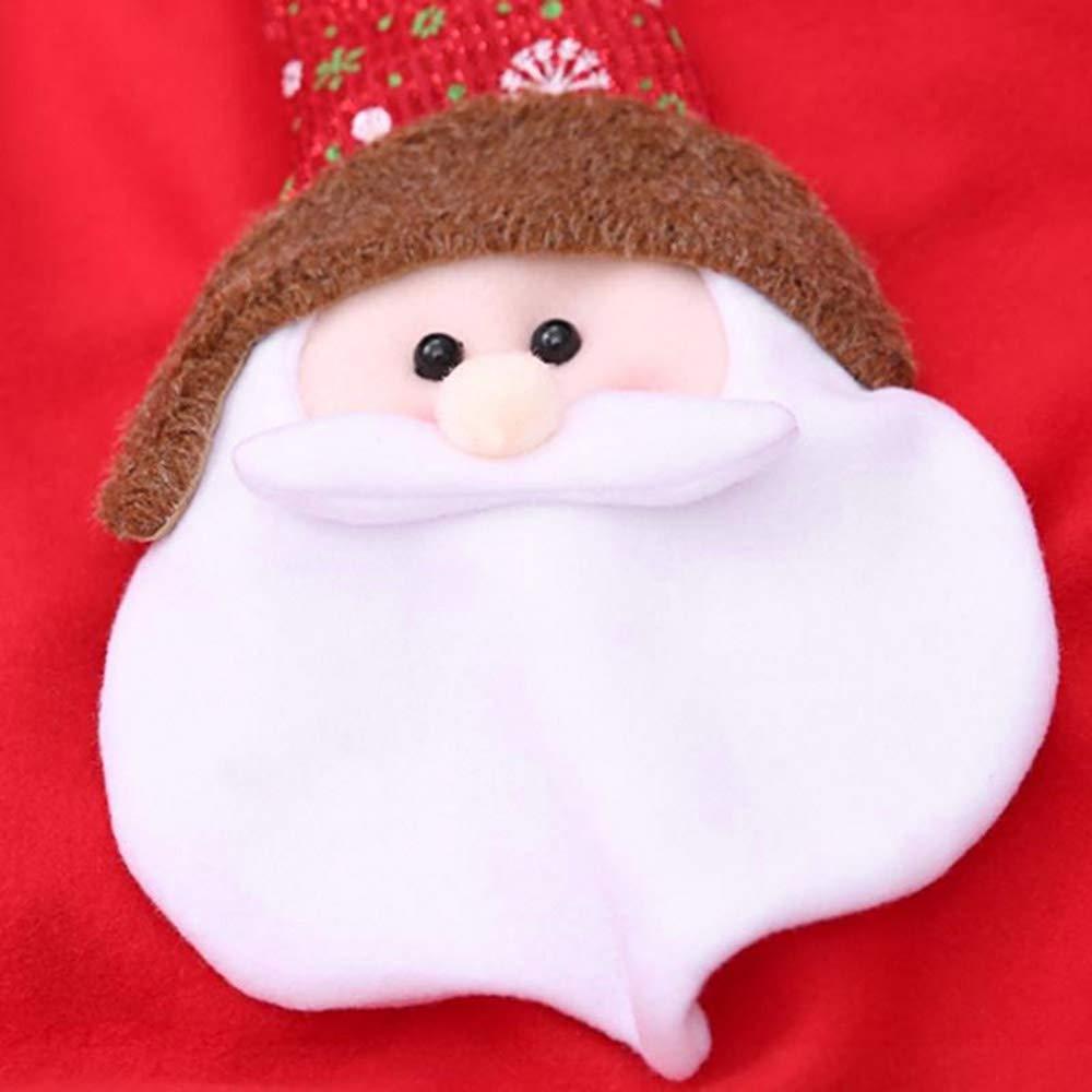 Wenquan,Delantal de muñeco de nieve de Papá Noel con fiesta de cena navideña de bolsillo Un gran regalo para Navidad(color:ROJO,size:PAPÁ NOEL): Amazon.es: ...