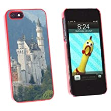 Graphics and More Allgau Neuschwanstein Fairy Castle Mountains Snap-On Hard Protective Case for Apple iPhone 5/5s - Non-Retail Packaging - Red