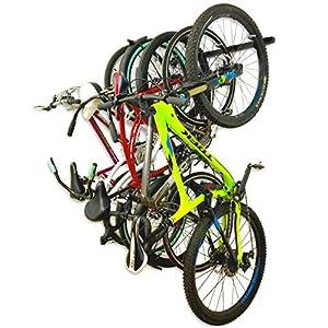 Omni Bike Storage Rack Holds 5 Bicycles Home & Garage Adjustable Bikes Wall Hanger Mount