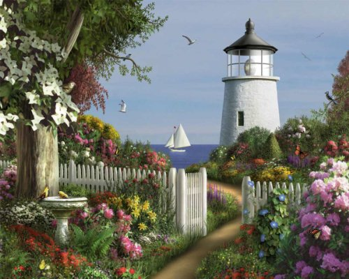 (White Mountain Puzzles To The Lighthouse - 1000 Piece Jigsaw Puzzle)