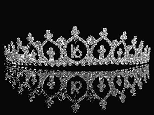 SparklyCrystal Sweet 16 Birthday Tiara 1899S]()