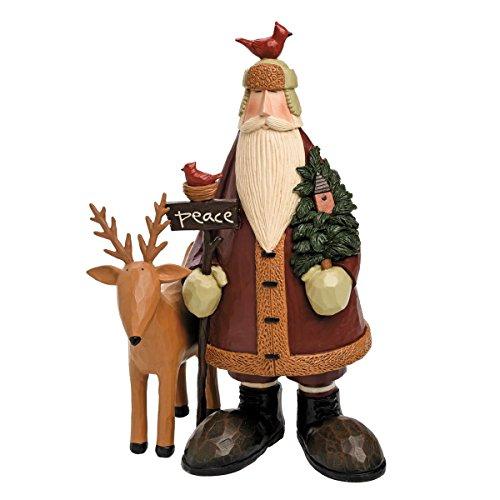 Foreside FFGH04763 Williraye Studios Woodland Peace Santa Home Décor