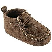 Luvable Friends Boy's Faux Suede Boot (Infant), Brown, 0-6 Months M US Infant