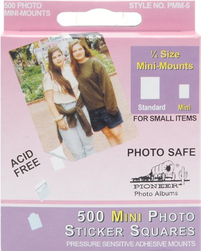 Pioneer 500 Count Self Adhesive Mini Photo Mounts