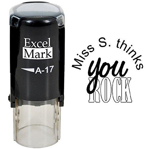 You Rock - ExcelMark Custom Round Self-Inking Teacher Stamp