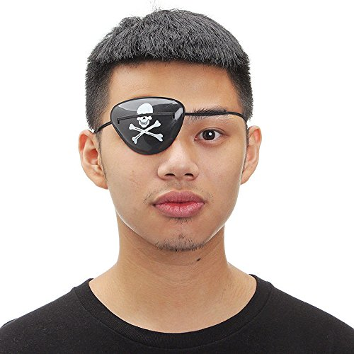 Party Masks - 1pc Random Pirate Eye Patch Mask Eyeshade Cover Plain Amblyopia Skull - Male Adults Gold Wear Sticks Pack Masquerade Women Adult Party Dinosaur Stick White Masks Headbands -