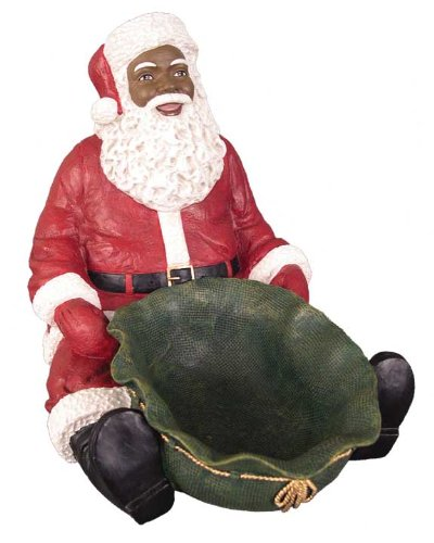Ebony Treasures Santa candy tray LG