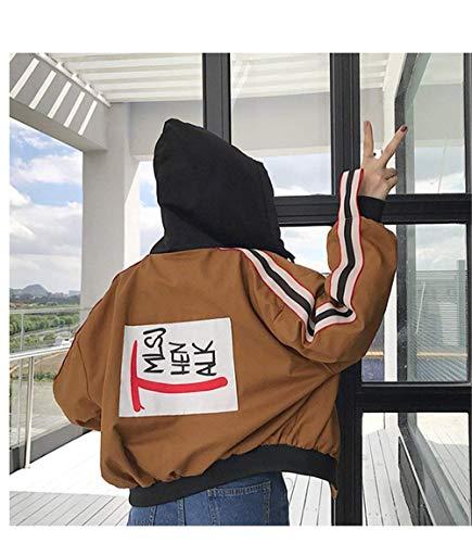 Joven Basicas Capa Capucha Chaqueta Mujer De Otoño Hoodie Khaki Battercake Outwear Anchas Moda Deportiva Mujeres Con Abrigos Casuales Primavera Temporada Casual Sweatshirts pqRSSa