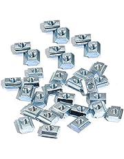 100pcs 20 Series T Sliding Nuts Hammer Nut Block Square Nuts M5 T Nuts for 2020 Aluminum Profiles T Slot 6mm (m5)
