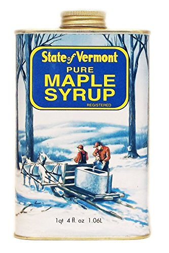 Ferguson Farms 100% Pure Vermont Maple Syrup, (formally Grade B), Vermont Tin 1 Quart 4 fl. oz. (36oz) (Syrup Maple Can Pure)