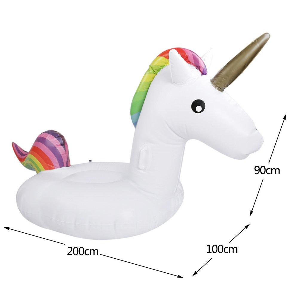 MMP Unicorn - Piscina gigante flotante PVC inflable verano piscina juguetes para adultos niños: Amazon.es: Juguetes y juegos