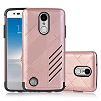 LG LV3 Case, LG Aristo Case, LG V3 Case, SUMOON [Drop Protection] [Shock Absorption] Hybrid Hybrid Dual Layer Armor Defender Protective Case Cover For LG LV3/Aristo/V3/MS210 (Rose Gold)