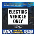 Pavement Stencils - 10 in - Electric Vehicle ONLY Stencil - 37'' x 50''