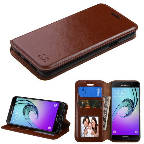 new product e3bd9 aab8d Samsung Galaxy A3 A310 (2016) Case, Kaleidio [MyJacket] Leather Wallet  Cover w/ Card Slot & Stand Feature [Includes a Overbrawn Prying Tool]  [Brown]
