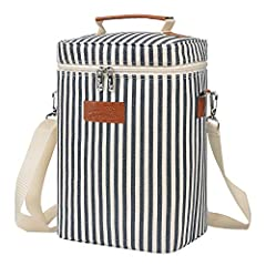 SKU: 1KTWB420STRFeatures: This beautiful Tirrinia deluxe wine travel carrier cooler insulated tote bag let you put your favorite drinks to restaurants, picnic, party, beach or any other gathering occasion. It featured with shoulder strap and ...