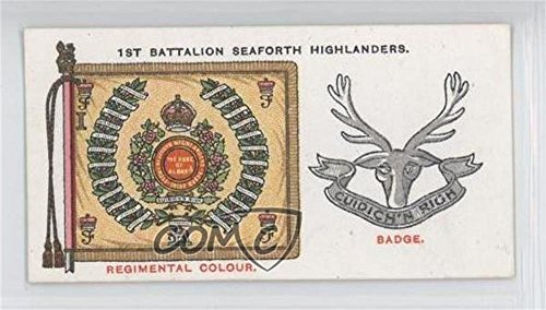 1st Bn. Seaforth Highlanders (Trading Card) 1930 Player's Regimental Standards and Cap Badges - Tobacco [Base] #45