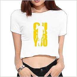 09b93e365eb9 Amazon.com  Custom Woman Stephen SC Curry 30  Basketball Player 434 Cotton Crop  Top Size XL White (6140190906929)  Books