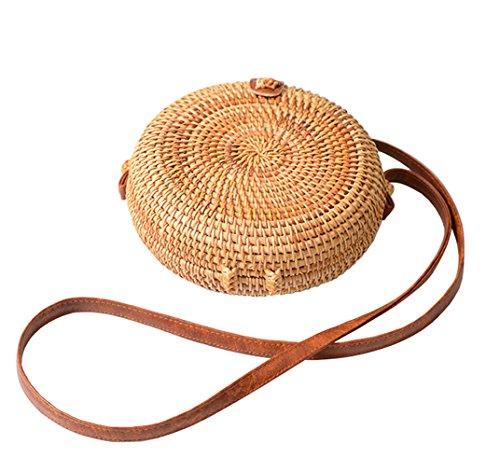 Mme main Femmes la Sacs HopeEye mode 2 Fait Femme sac Bag main Paille brun à à Messenger de Tendances paille à bandoulière la 7ddnvqY