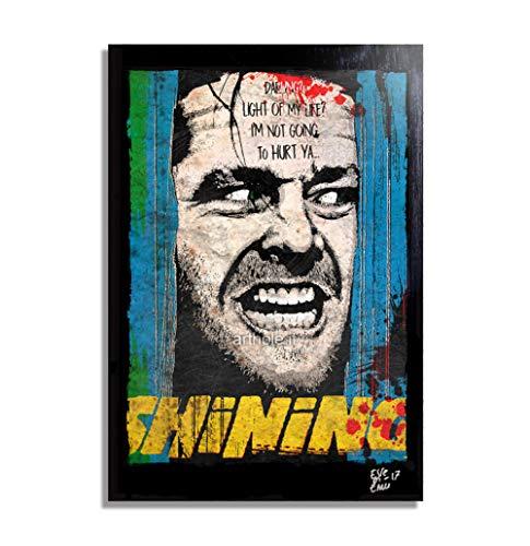 Jack Torrance from The Shining Movie (Stephen King, Stanley Kubrick) - Pop-Art Original Framed Fine Art Painting, Image on Canvas, Artwork, Movie Poster, Horror