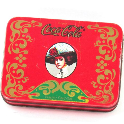 2 Sets Of Vintage Coca Cola Playing Cards In Tin Container - 41746 (Vintage Skirt Heaven)