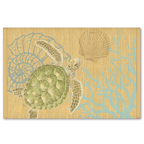 Hawaiian Style Bamboo Placemat Honu Turtle Voyage Set Of 4 by Welcome to the Islands