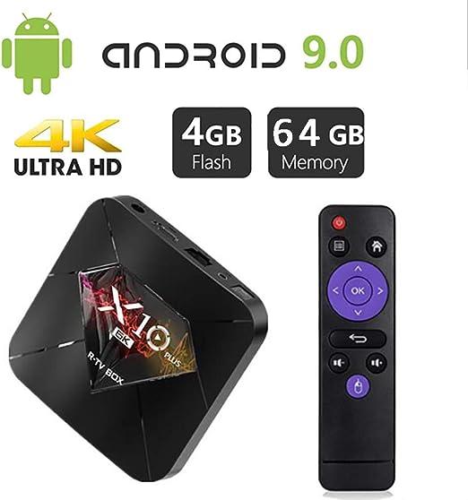 Android 9.0 TV Box, [4GB + 64GB] Bluetooth 4.0 U1 MAX TV Box USB 3.0 Allwinner