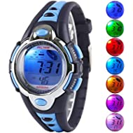 Kid Watch Multi Function Digital LED Sport 50M Waterproof Electronic Digital Watches for Boy Girl...