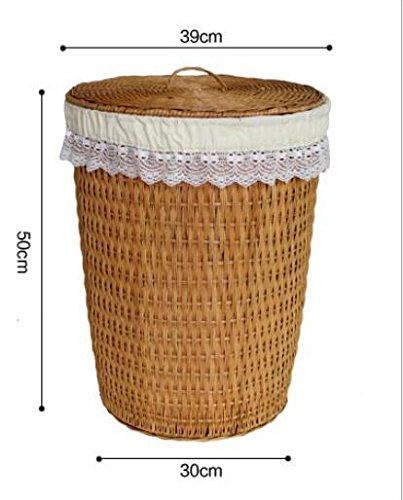 YZL/ Dirty clothes storage baskets//laundry basket/storage basket with lid basket/hamper/rattan bamboo storage basket , yellow