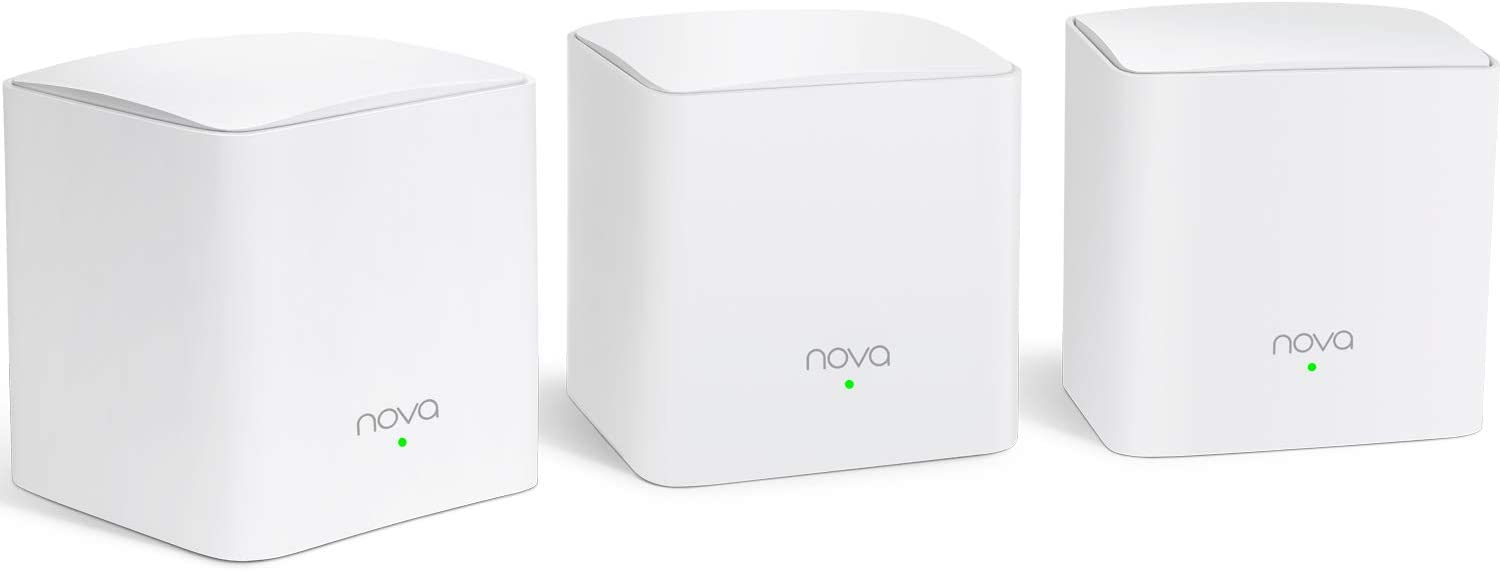 Tenda Nova MW5G Whole Home Mesh WiFi System - Dual Band Gigabit AC1200 Router Replacement for SmartHome,Works with Amazon Alexa for 3500 sq.ft Coverage (3 Pack)