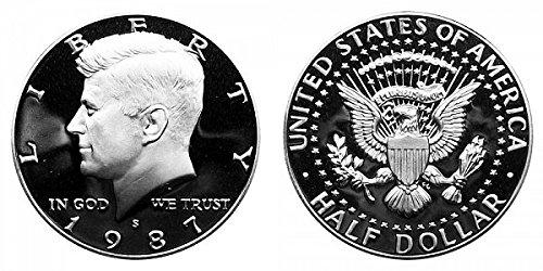 1987 S Gem Proof Kennedy Half Dollar US Coin 1//2 DCAM US Mint