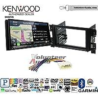 Volunteer Audio Kenwood DNX874S Double Din Radio Install Kit with GPS Navigation Apple CarPlay Android Auto Fits 2006-2013 Suzuki Grand Vitara