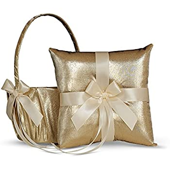 Amazon.com: Alex Emotions Gold & Ivory Flower Girl Basket