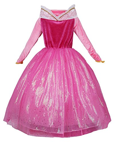 JerrisApparel Princess Dress Girl Party Dress Ceremony Fancy Costume (4T, Pink) - http://coolthings.us