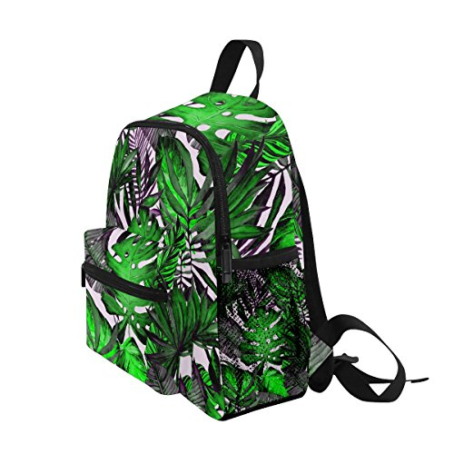 ZZKKO School Backpack Girls Boy for Kindergarten Kids Palm Tropical Tree Toddler Pre Bag Leaves rXw0BrqxH