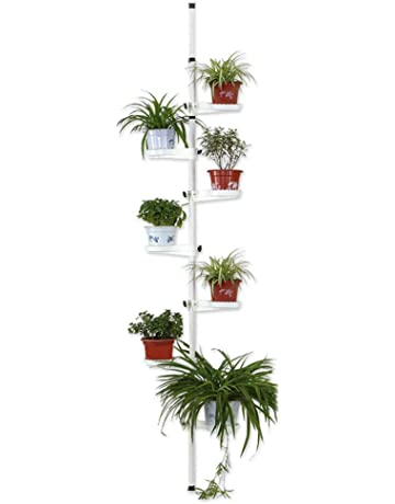 HaoHao Mini Wooden Plant Flower Stand Plant Display Ladder Shelf Flower Pot Racks Storage Rack Display Shelving Unit for Indoor and Outdoor,Brown