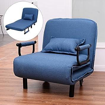 COSTWAY sofá Cama Silla de Brazo Plegable 29,5