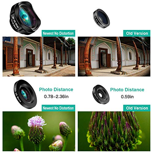 Phone Camera Lens, AiKEGlobal 2 in 1 Macro Lens,Wide Angle Lens, Universal Cell Phone Lens Kit Great Compatible iPhone, Android, iPad and Tablets by AiKEGlobal (Image #4)