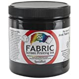 Arts & Crafts : Speedball 8-Ounce Fabric Screen Printing Ink, Black (4560)