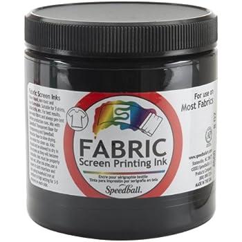 Speedball 8-Ounce Fabric Screen Printing Ink, Black (4560)