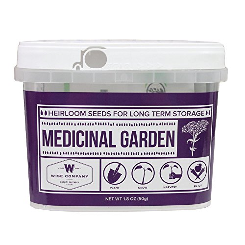 Wise Foods Medicinal Heirloom Seed Bucket, Multicolor