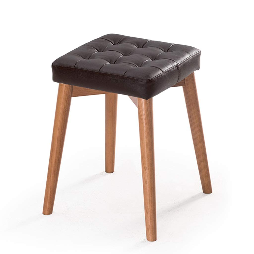 CFJRB 小さい正方形の腰掛け、台所食堂のための現代純木の化粧スツール (色 : Color#3) B07QK89Y1Y Color#3