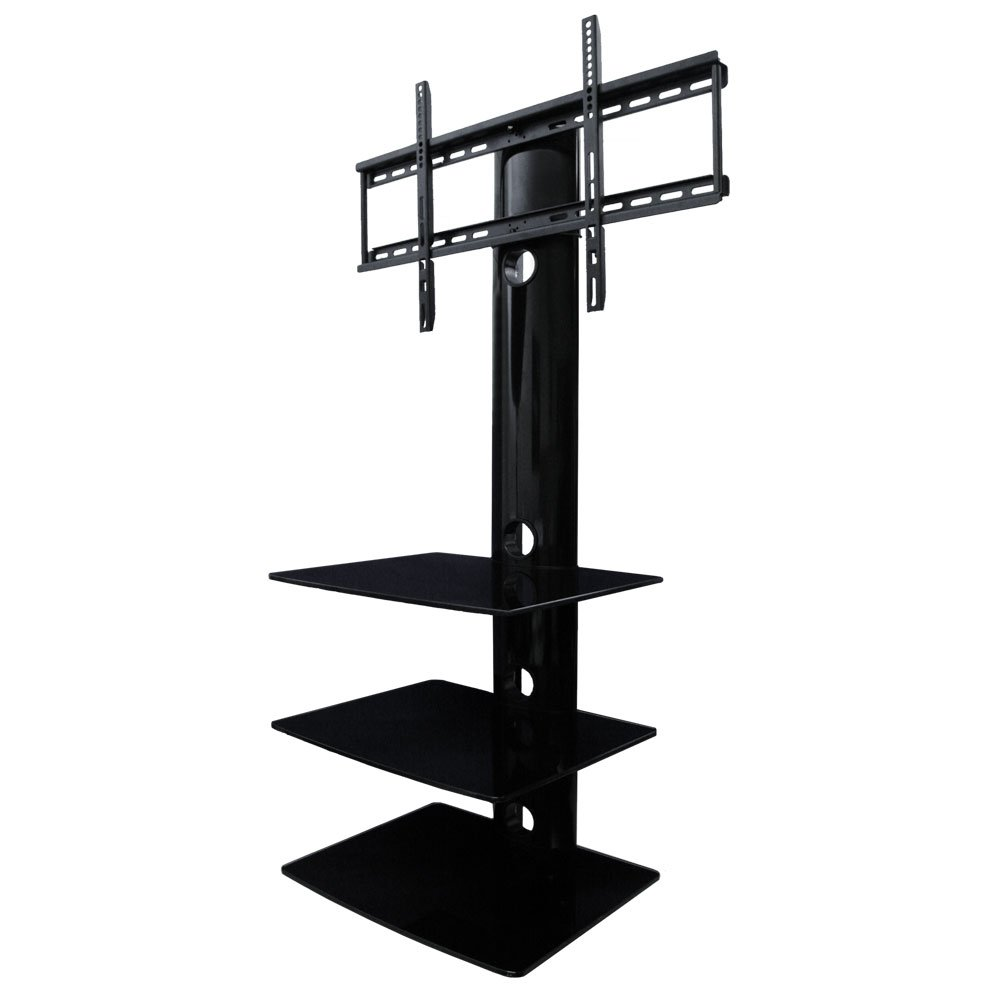 Amazon aeon stands and mounts swiveling tv wall mount with amazon aeon stands and mounts swiveling tv wall mount with three shelves black electronics amipublicfo Gallery