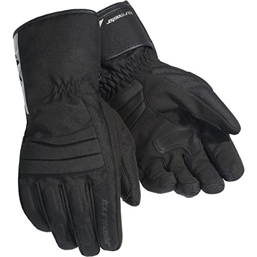 Master Motorcycle Gloves (Tour Master Mid-Tex Men's Textile Street Racing Motorcycle Gloves - Black / X-Large)