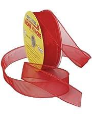 Morex Ribbon Wired 1-Inch Chiffon Ribbon with 25-Yard Spool