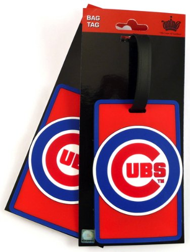MLB Chicago Cubs Two Pack Soft Laser Bag Tag by aminco (Image #1)