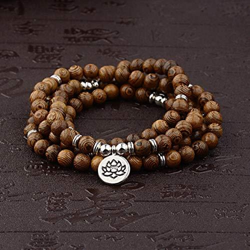 Mikash 8mm Natural Lava Stone Beaded Bracelet Necklaces Drop Pendant Healing Bracelets | Model BRCLT - 38718 |